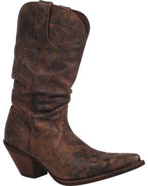 Durango Women's Drunken Slouch Western Boots, Dark Brown, hi-res