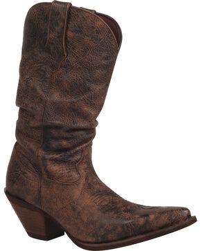 Durango Women's Drunken Slouch Western Boots, Dark Brown, hi-res