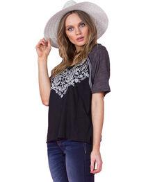Miss Me Women's Black Short Sleeve Top, , hi-res