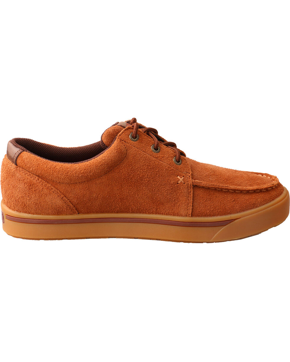 Hooey Lopers by Twisted X Men's Rough Out Casual Shoes - Moc Toe, Brown, hi-res