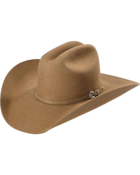 Justin Bent Rail 7X Bullet Fur Felt Cowboy Hat , Pecan, hi-res