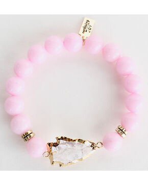Everlasting Joy Jewelry Women's Bubblegum Pink Arrowhead Bracelet , Light Pink, hi-res