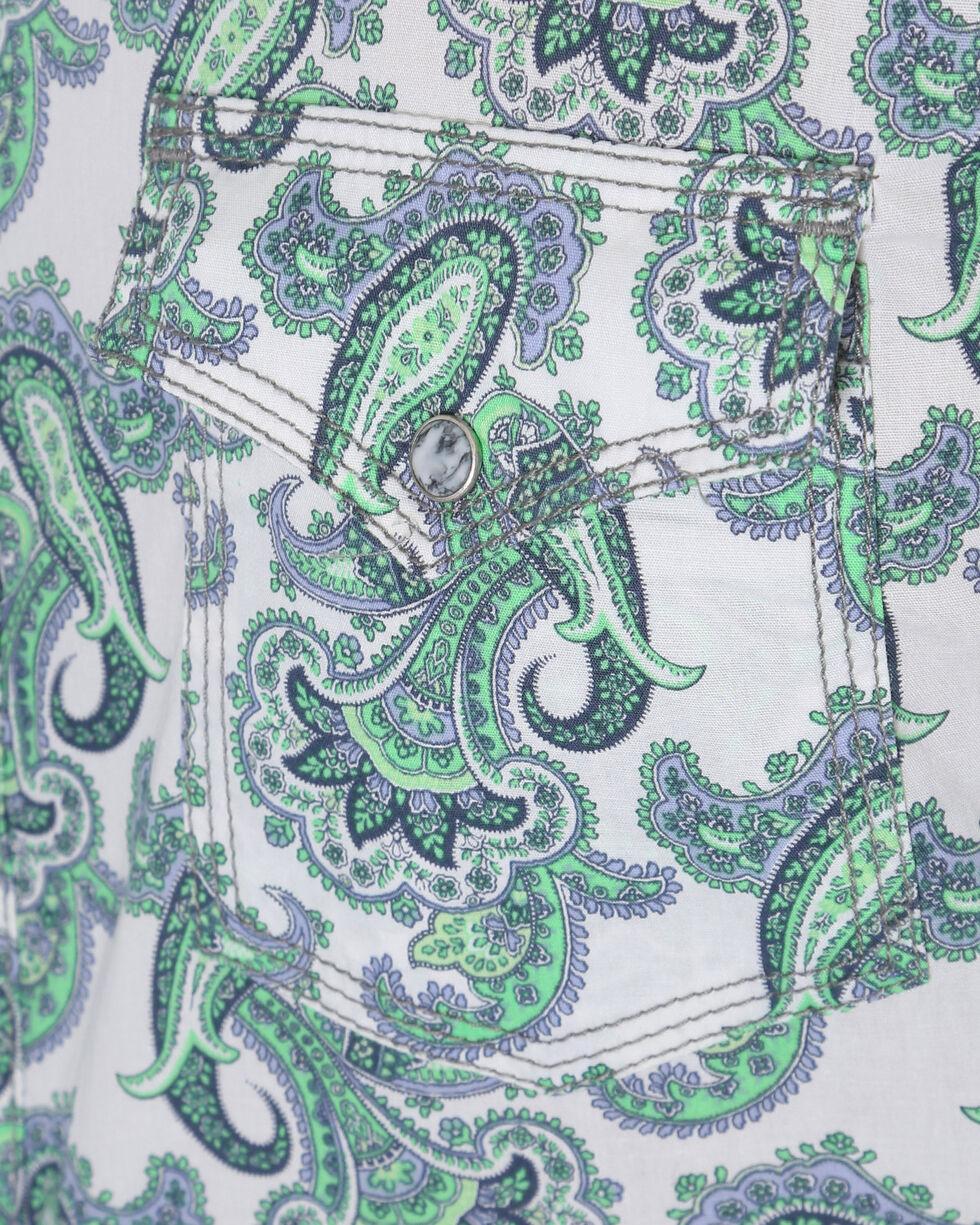 Wrangler Men's Green Paisley 20X Competition Advanced Comfort Shirt , Green, hi-res