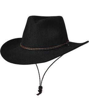 Master Hatters Men's Black Shady Wool Hat, Black, hi-res