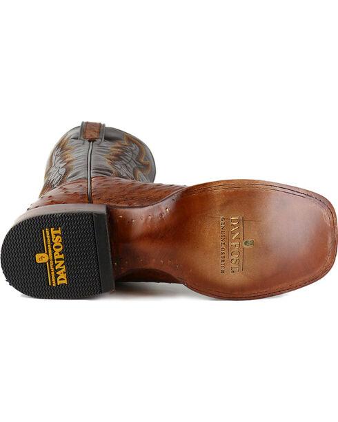 Dan Post Men's Ostrich Cognac Square Toe Exotic Boots   , Cognac, hi-res