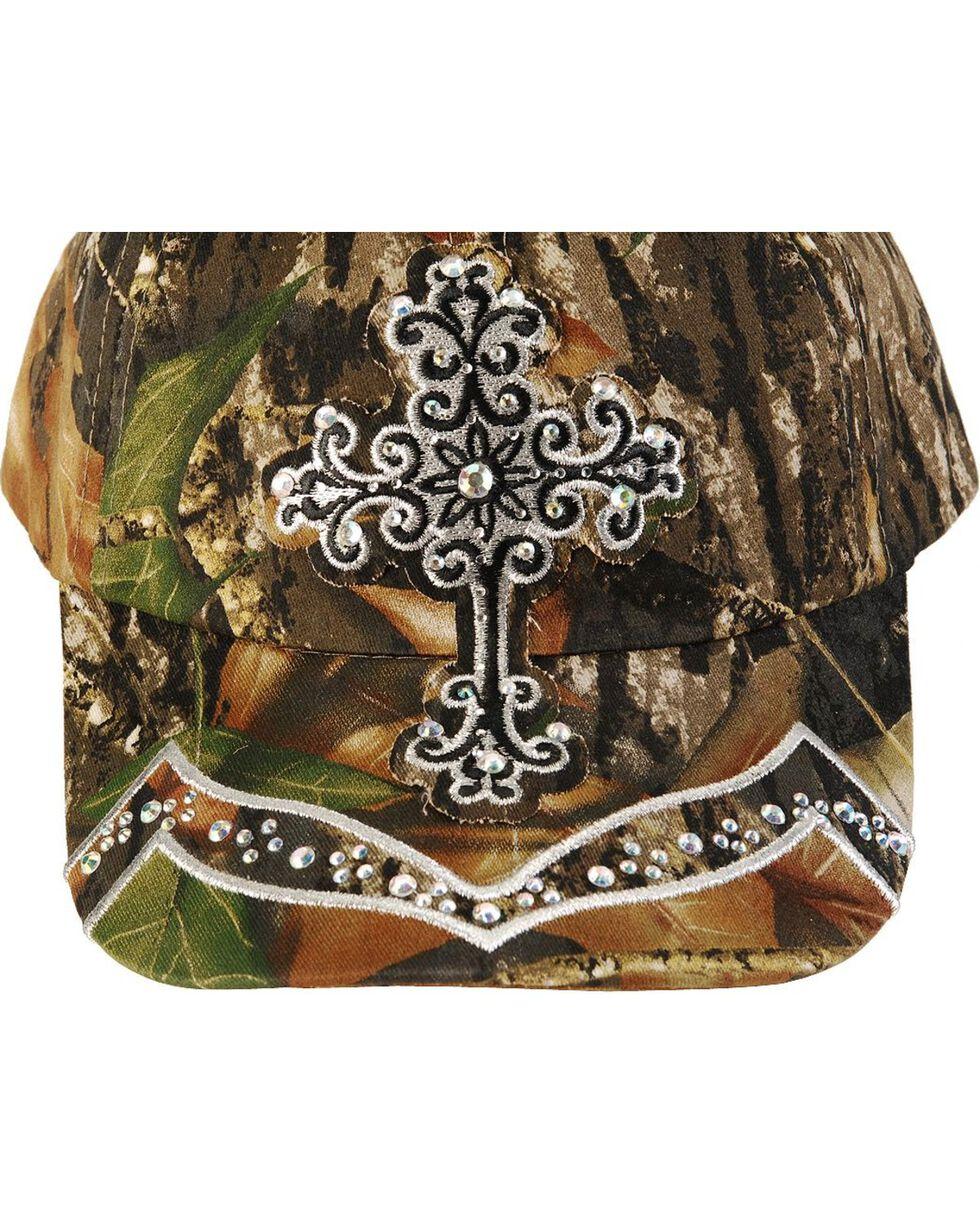 Blazin Roxx Mossy Oak Bling Cross Cap, Mossy Oak, hi-res