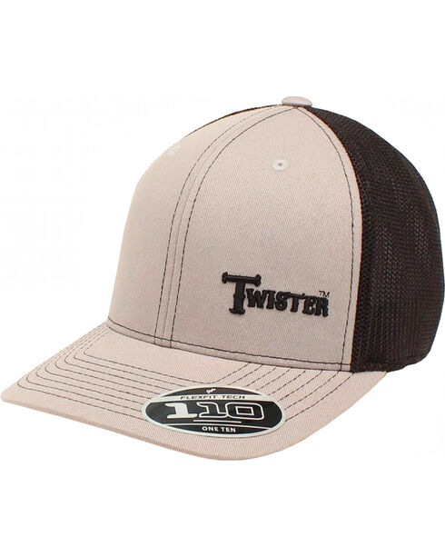 Twister Men's Cream Text Baseball Cap , Grey, hi-res