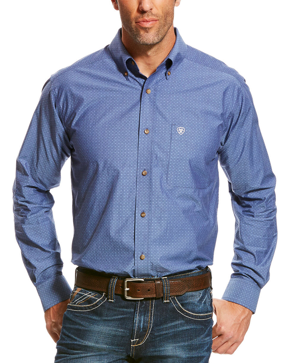 Ariat Men's Palermo Long Sleeve Shirt, Indigo, hi-res