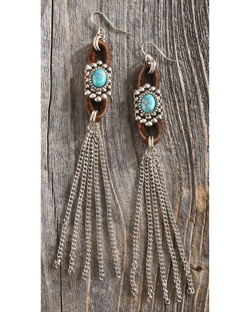 Cowgirl Confetti Women's Brown Duster Earrings , Brown, hi-res