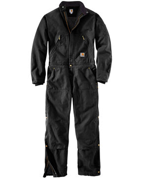 Carhartt Men's X01 Quilt Lined Duck Coveralls , Black, hi-res