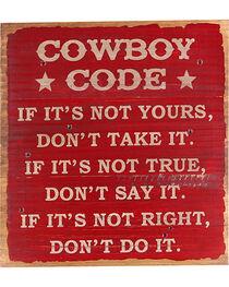 BB Ranch® Cowboy Code Wall Decor, , hi-res