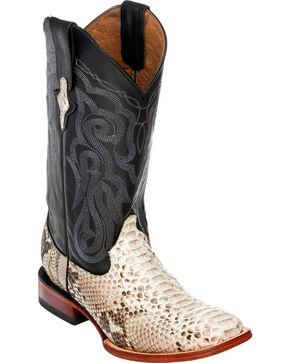 Ferrini Men's Python Cowboy Boots - Square Toe, Natural, hi-res