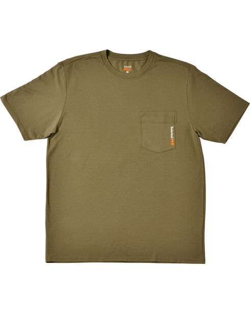 Timberland Pro Men's Short Sleeve Wicking T-Shirt, Olive Green, hi-res