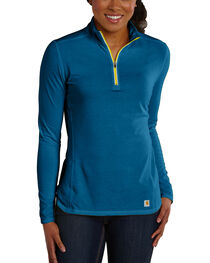 Carhartt Women's Force Performance Quarter-Zip Shirt, , hi-res