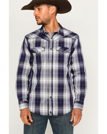 Cody James Men's Badlander Long Sleeve Shirt, Purple, hi-res