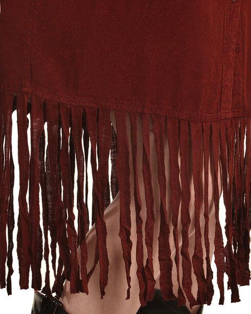 Nostalgia Women's Long Sleeve Fringe Hem Dress, Purple, hi-res