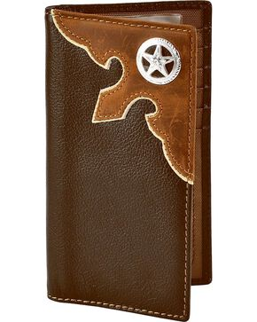 M&F Men's Wallet & Checkbook Cover, Brown, hi-res