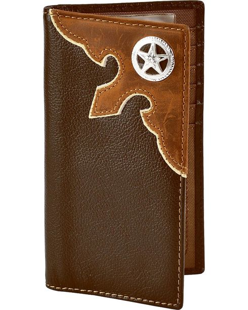 M&F Men's Wallet & Checkbook Cover, Brown, hi-res