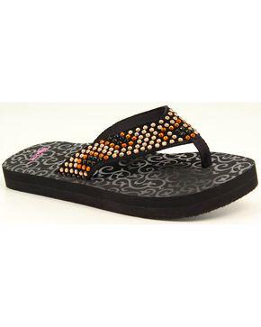 Blazin Roxx Zandra Flip Flops, Black, hi-res