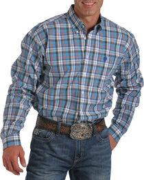 Cinch Men's Plaid Long Sleeve Button Up Shirt, , hi-res
