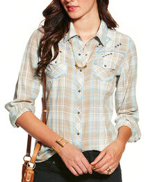 Ariat Women's Nichols Fitted Long Sleeve Western Shirt, , hi-res