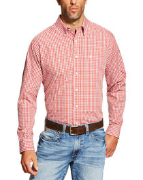 Ariat Men's Hamilton Wrinkle Free Plaid Long Sleeve Western Shirt, , hi-res