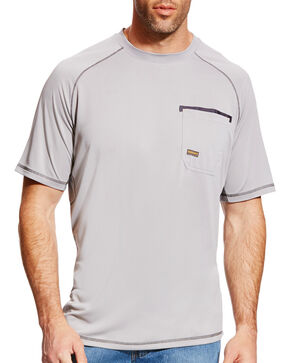 Ariat Men's Rebar Sunstopper Short Sleeve Shirt, Grey, hi-res