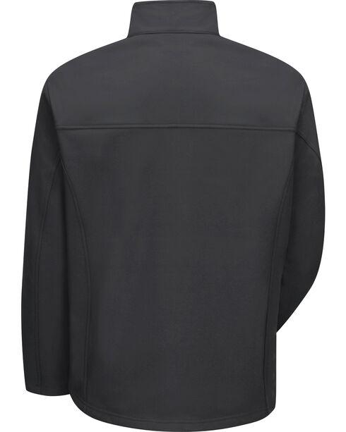 Red Kap Men's Black Soft Shell Jacket , Black, hi-res