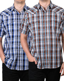 Ely Cattleman Men's Plaid Snap Asssorted Short Sleeve Shirt, , hi-res