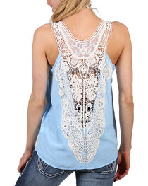 Shyanne Women's Criss Cross and Lace Tank, , hi-res