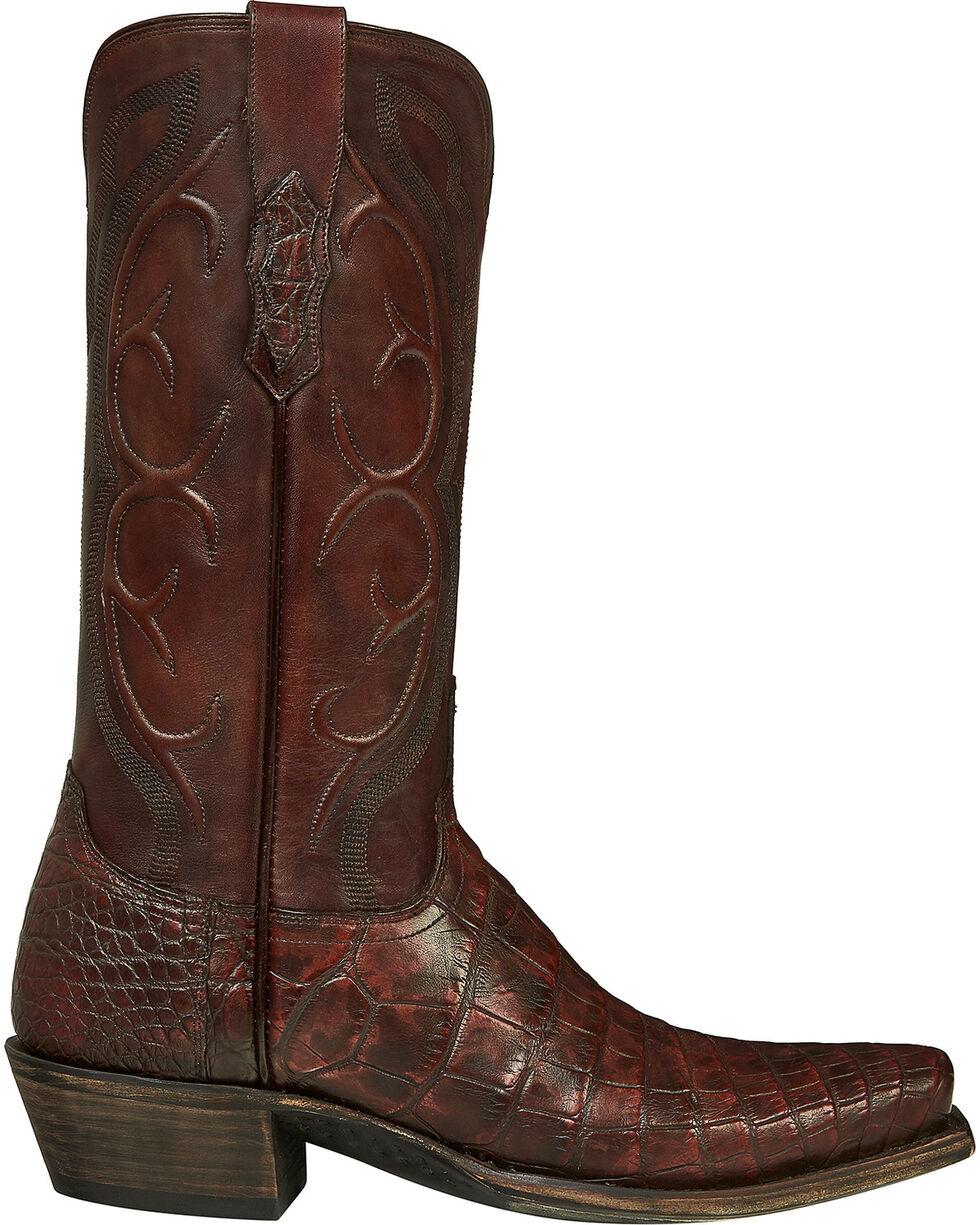 Lucchese Handmade Brick Giant Gator Van Cowboy Boots - Square Toe, , hi-res