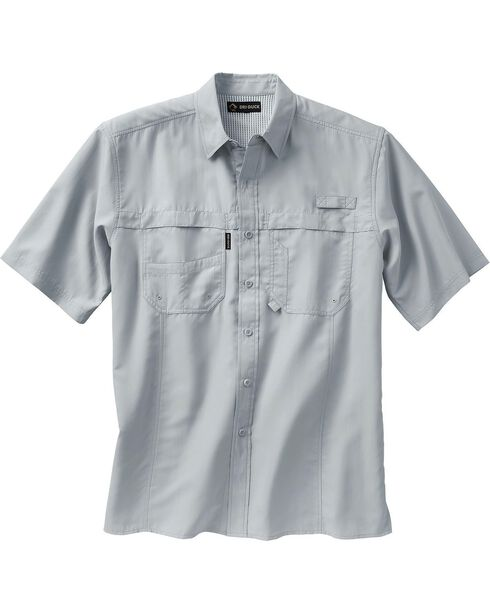 Dri Duck Men's Catch Short Sleeve Shirt, Grey, hi-res