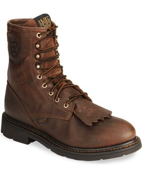 Ariat Men's Cascade Waterproof Work Boots, Sunshine, hi-res