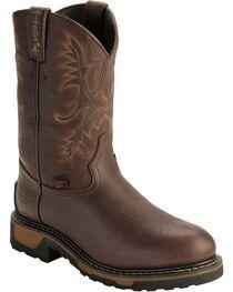 Tony Lama Men's TLX Steel Toe Round Toe Western Work Boots, Briar, hi-res