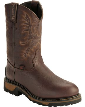 Tony Lama Men's TLX Steel Toe Round Toe Western Work Boots, Briar, hi-res