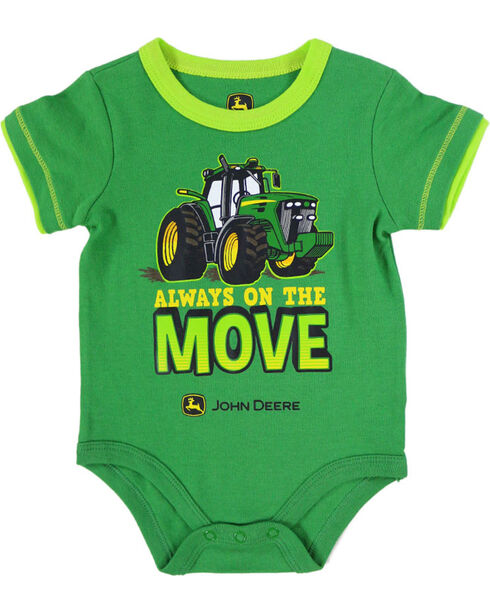 "John Deere Infants' ""Move"" Onesie, Green, hi-res"