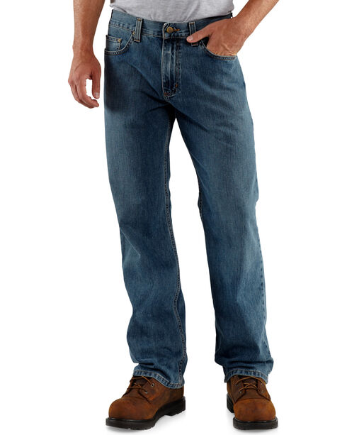Carhartt Men's Loose-Fit Straight-Leg Jeans, Worn Blue, hi-res