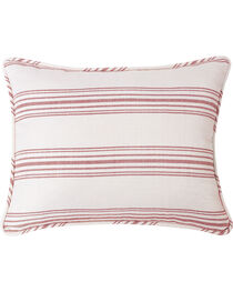 HiEnd Accents Prescott Red Stripe Pillow Sham Set - Queen , , hi-res
