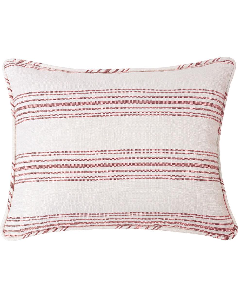 HiEnd Accents Prescott Red Stripe Pillow Sham Set - Queen , Red, hi-res