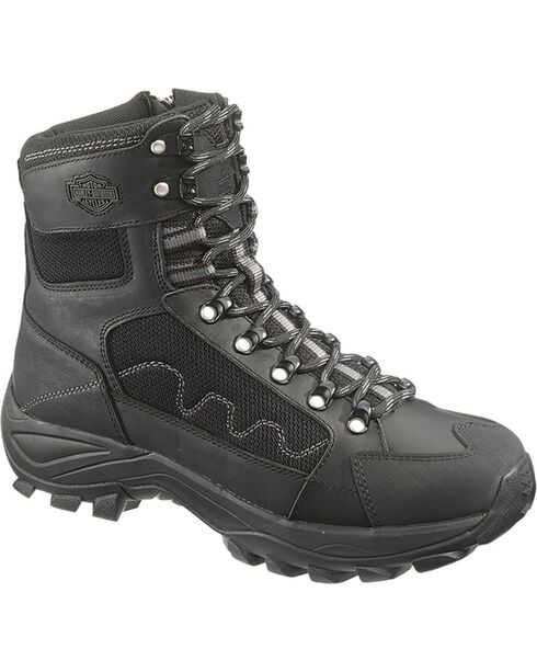 Harley-Davidson Men's Roland Lace-Up Motorcycle Boots, Black, hi-res