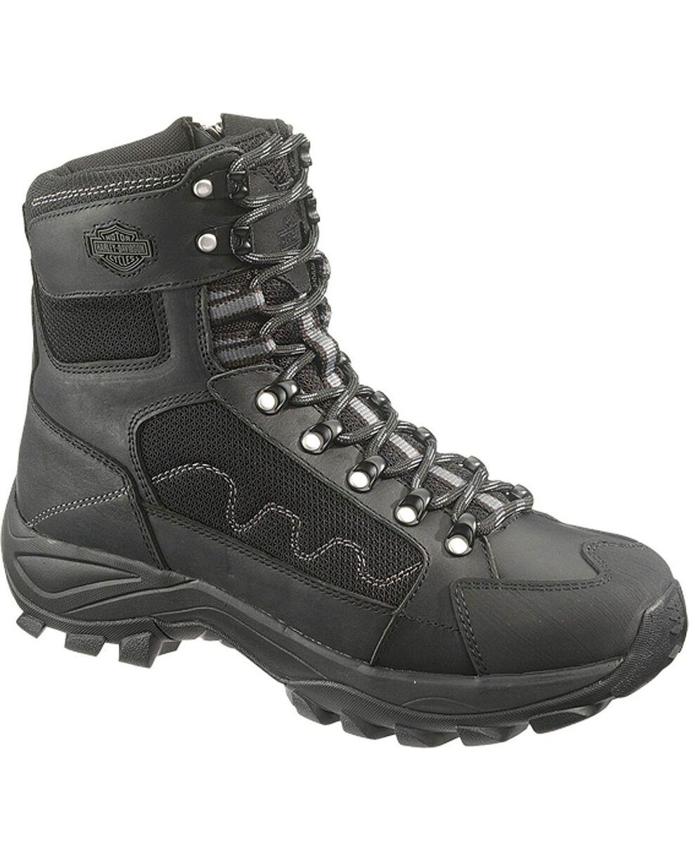 Harley-Davidson Men's Roland Lace-Up Motorcycle Boots, Black, hi-res