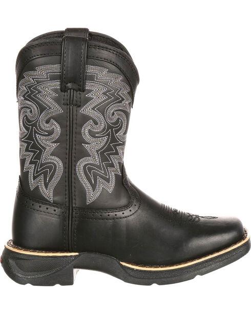Durango Boys' Stockman Western Boots, Black, hi-res