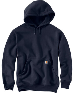 Carhartt Men's Rain Defender Paxton Heavyweight Hooded Sweatshirt, Navy, hi-res