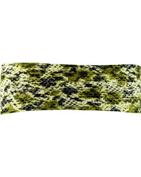 Pink Pewter Snake Print Stretch Sports Wrap, Green, hi-res