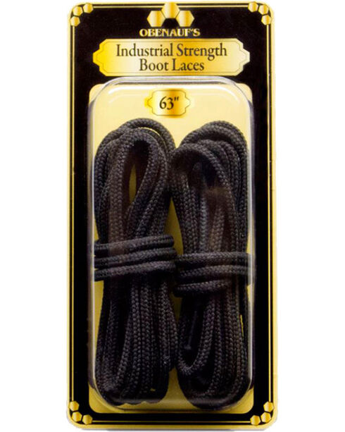 """Obenauf's Industrial Strength 63"""" Boot Laces, Black, hi-res"""