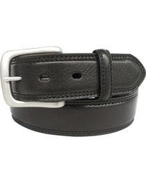 G Bar D Men's Black Grain Leather Belt , , hi-res