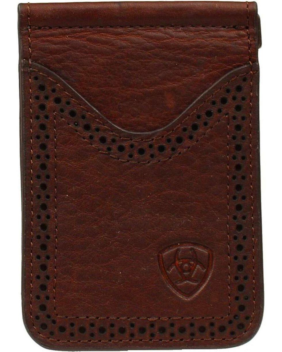 Ariat Card Case Clip Wallet, Copper, hi-res