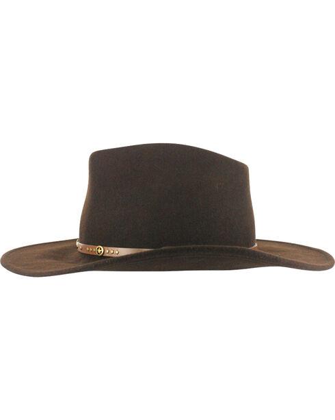 Cody James® Men's Felt Hat, Brown, hi-res