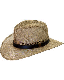 Black Creek Men's Seagrass Straw Hat, , hi-res
