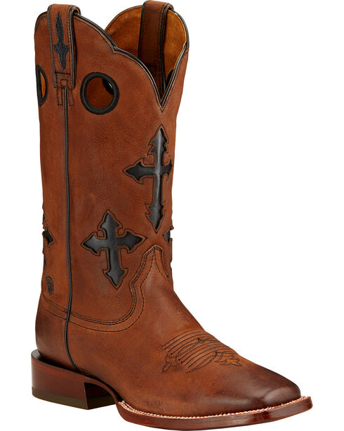 Ariat Men's Ranchero Square Toe Western Boots, Whiskey, hi-res